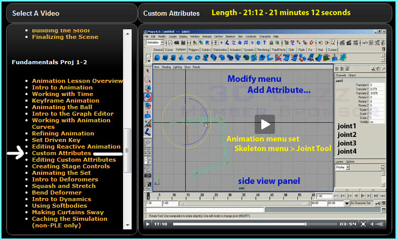 Friday, July 17th, 2009 - Custom Attributes in Maya - 3DBuzz