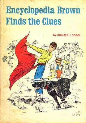 the cover of 'Encyclopedia Brown Finds the Clues'
