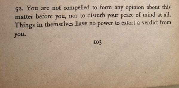 Item 52 from Book 6 of The Meditations, by Marcus Aurelius