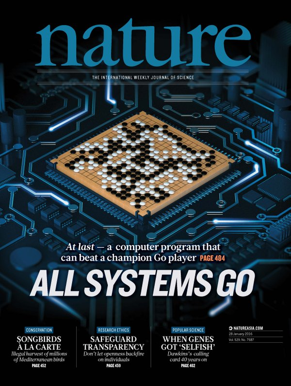 All Systems Go -- the cover of Nature magazine