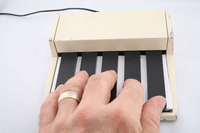the PARC 5-key Chord Keyboard, courtesy the Buxton collection