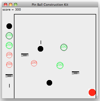 a pinball game constructed using a simple game kit