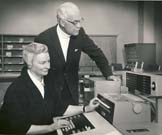 Sister Mary Kenneth Keller, with Paul Laube, MD, undated