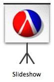 the icon for Slideshow