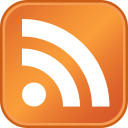 the standard icon for RSS subscription, via Wikipedia