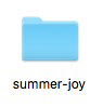 my Summer of Joy folder