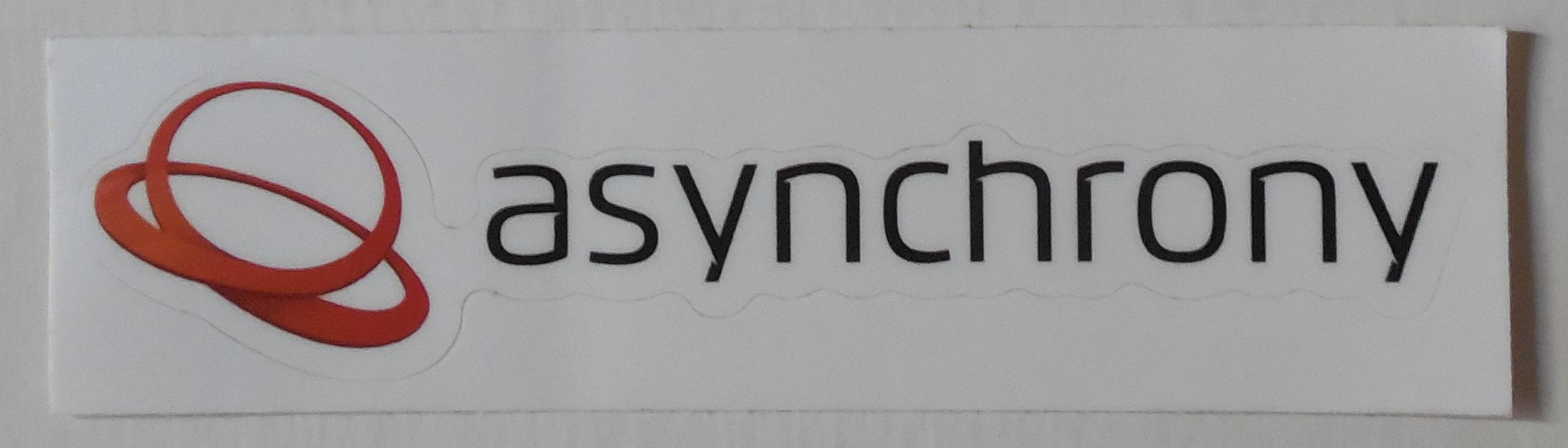 asynchrony laptop sticker