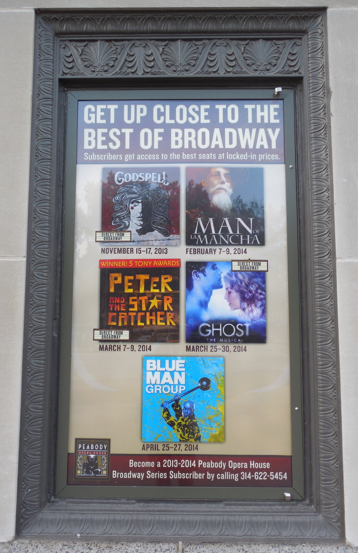 the Peabody Opera House's Broadway series poster