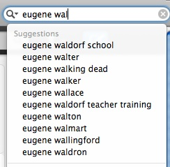 top ten Google search suggestions for 'eugene wal'
