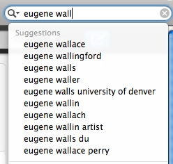 top ten Google search suggestions for 'eugene wall'