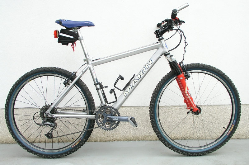 a Marin mountain bike