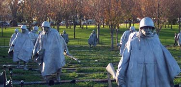 The Korean War Veterans Memorial in Washington, DC
