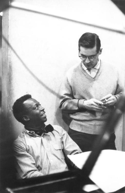 jazz pianist Bill Evans, with Miles Davis
