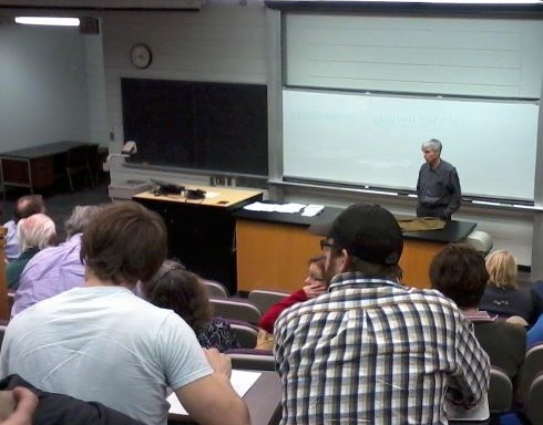 Douglas Hofstadter speaking at UNI
