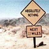 absolutely nothing: next 22 miles