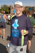 with my finisher's medal at the end