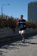 a shot of me running the Chicago marathon