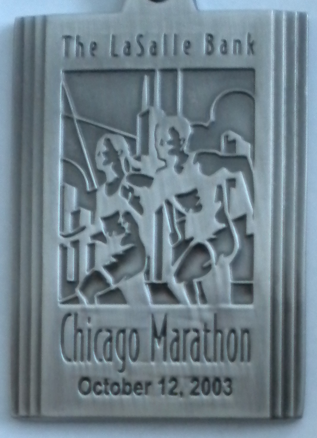 2003 Chicago Marathon -- my first